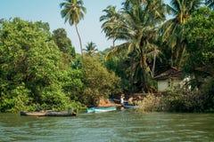 Mar de la naturaleza de la playa de la India Goa Fotos de archivo libres de regalías