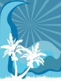 Mar de la palmera Stock de ilustración