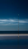 Mar de la pesca de la noche Exposición larga Imagen de archivo libre de regalías
