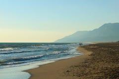 Mar de la playa de Patara Imagen de archivo