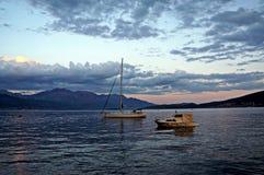Mar de la puesta del sol Imagen de archivo