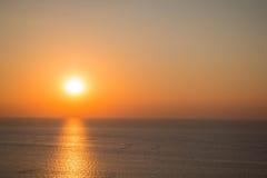 Mar de la puesta del sol Imágenes de archivo libres de regalías