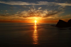 Mar de la puesta del sol de Cortez Fotografía de archivo