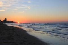 Mar de la salida del sol Imagen de archivo