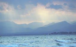 Mar de la tempestad de truenos Fotografía de archivo
