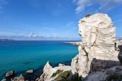Mar de la turquesa de Favignana, Sicilia Foto de archivo