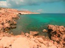 Mar de la turquesa en Grecia Fotografía de archivo