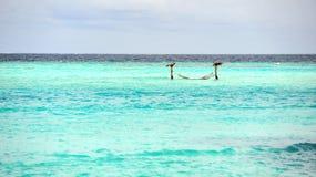 Mar de la turquesa en Maldives Imágenes de archivo libres de regalías