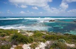 Mar de la turquesa: Isla de Rottnest Fotos de archivo