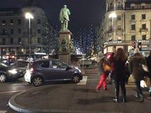 Mar de luces en Bahnhofstrasse Zurich Fotografía de archivo libre de regalías