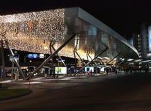 Mar de luces en el aeropuerto ZRH de Zurich Fotografía de archivo