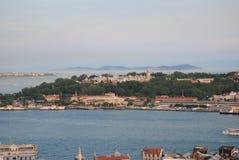 Mar de Marmara Istambul do palácio de Topkapı Turquia imagens de stock