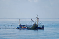 Mar de Nord del barco de pesca Imagenes de archivo