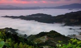 Mar de nubes en Ziquejie Fotos de archivo libres de regalías