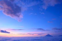 Mar de nubes y del Mt fuji imagen de archivo