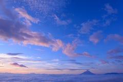 Mar de nubes y del Mt fuji fotografía de archivo