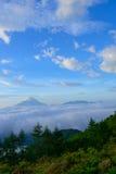 Mar de nubes y del Mt fuji fotografía de archivo libre de regalías