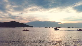 Mar de Pattaya imagen de archivo