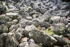 Mar de pedra da andesite em Eslováquia imagem de stock