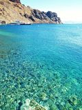 Mar de Santorini Fotografia de Stock
