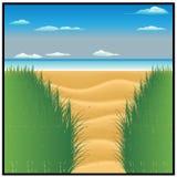 Mar de Sun e praia bonita ilustração do vetor