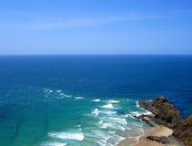 Mar de Tasman que encontra o Oceano Pacífico, Nova Zelândia Imagem de Stock