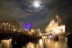Mar de Tokyo Disney da opinião da noite @ Imagem de Stock