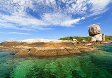 Mar de turquesa de Tailândia Fotos de Stock Royalty Free