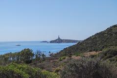 Mar de Villasimius, en Cerdeña, Italia fotos de archivo libres de regalías