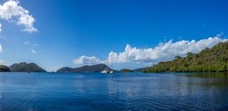 Mar dei Caraibi alle Isole Vergini americane Immagine Stock