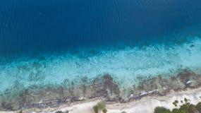 Mar dei Caraibi dell'isola del Bonaire della costa della spiaggia del mare Fotografie Stock