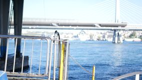Mar del agua de la nave del barco metrajes