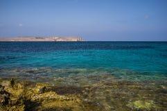 Mar del azul de Malta Foto de archivo
