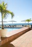Mar del Caribe de piscina Barbados Imágenes de archivo libres de regalías