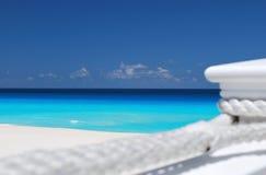 Mar del Caribe de relajación foto de archivo