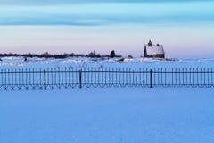 Mar del norte, blanco ruso en invierno Foto de archivo