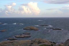 Mar del Norte de la costa en Noruega Imagen de archivo libre de regalías