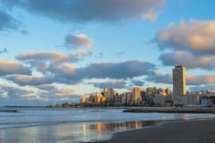 Mar del Plata. City from the beach Royalty Free Stock Image