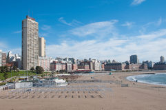 Mar del Plata sull'Oceano Atlantico, Argentina Fotografia Stock Libera da Diritti