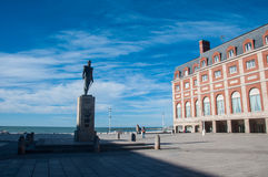 Mar del Plata sur l'Océan Atlantique, Argentine Photographie stock