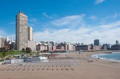 Mar del Plata sur l'Océan Atlantique, Argentine Photographie stock libre de droits