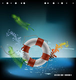 Mar del vector lifebuoy Fotografía de archivo