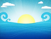 Mar del vintage stock de ilustración
