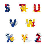 Mar do alfabeto de S a Z Imagens de Stock Royalty Free