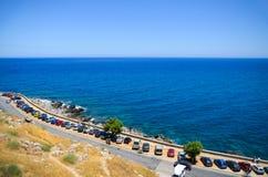 Mar do azul de Azur Fotografia de Stock