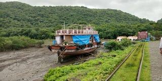 Mar do barco do navio fotos de stock royalty free
