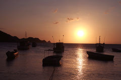 Mar do Cararibe. Louro de Taganga. Colômbia. Fotografia de Stock