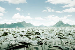 Mar do dinheiro Foto de Stock