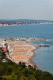 Mar do gabicce da paisagem a San Bartolo Italia Imagens de Stock