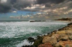 Mar do inverno. Foto de Stock